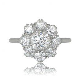 Vintage Cluster Engagement Ring