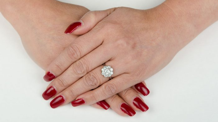11540-Vintage-Diamond-Cluster-Ring-on-Finger