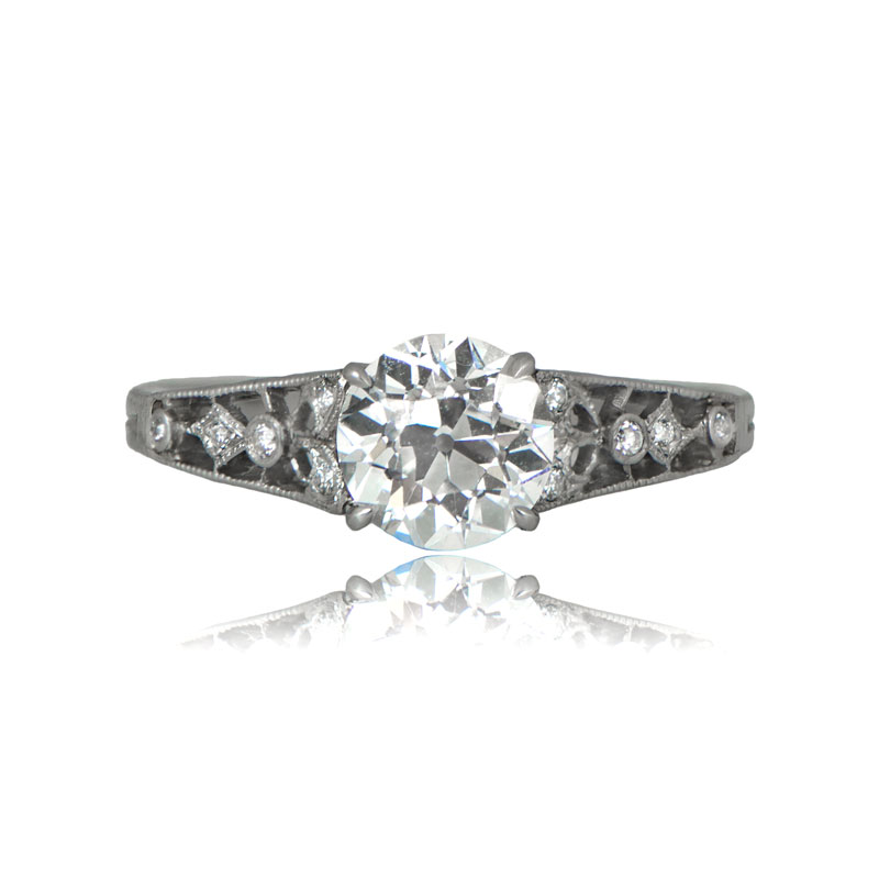 Edwardian Tiffany Engagement Ring Estate Diamond Jewelry