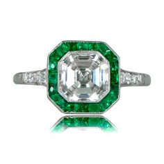 Emerald Halo Engagement Rings