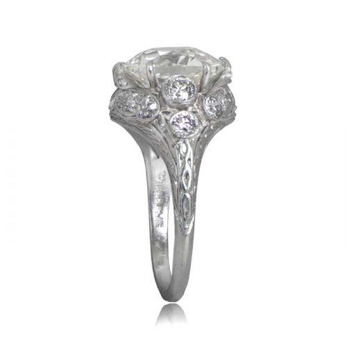 4 Carat Vintage Engagement Ring Estate Diamond Jewelry