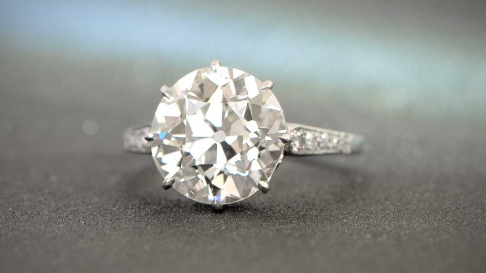 Antique Platinum 4ct Engagement Ring