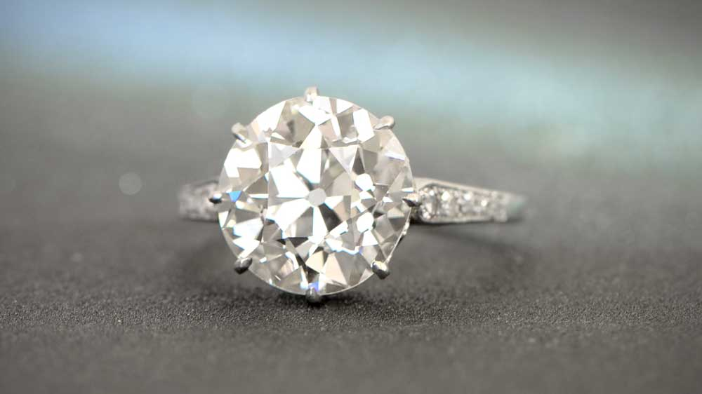 4 Carat Engagement Rings Estate Diamond Jewelry