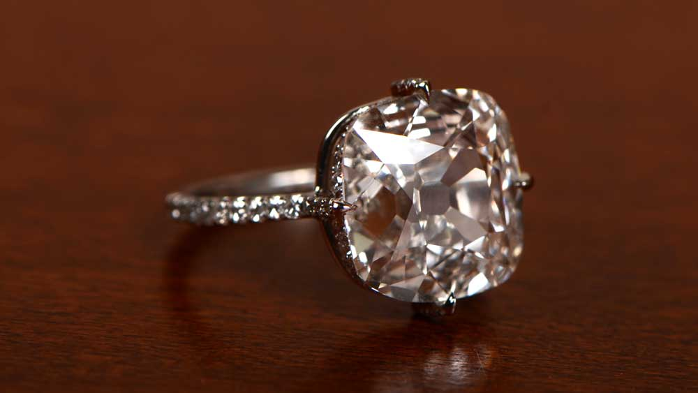 with wedding in cut rings diamond carats edge double carat ring cushion halo engagement