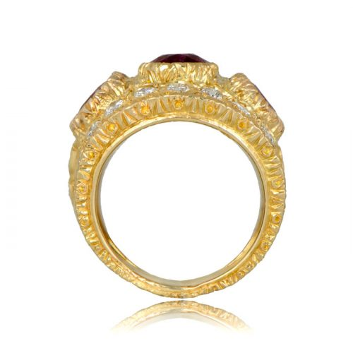 Buccellati Gold Ruby Ring