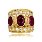 Vintage Buccellati Ring Rubies TV