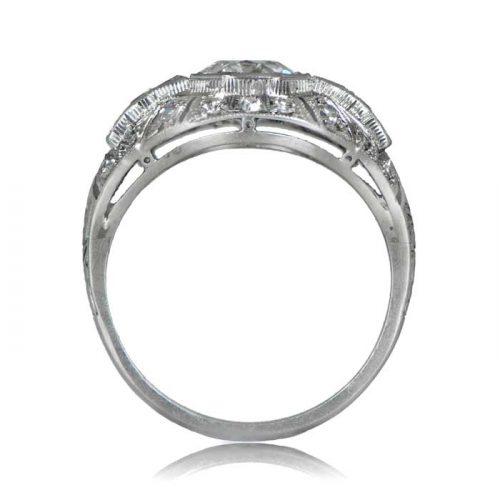 Antique Platinum Deco Ring