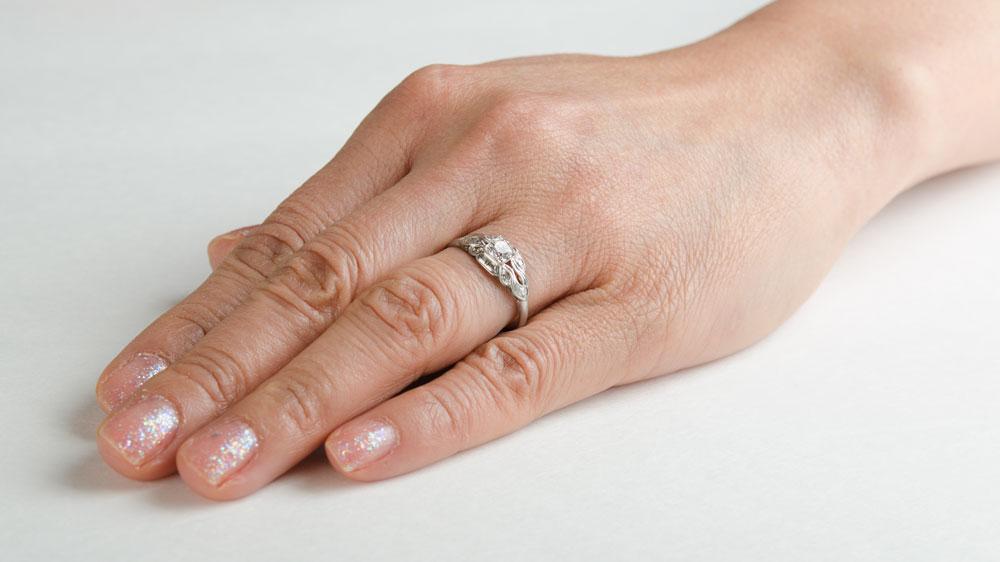 Melbourne Ring Circa 1920 Estate Diamond Jewelry