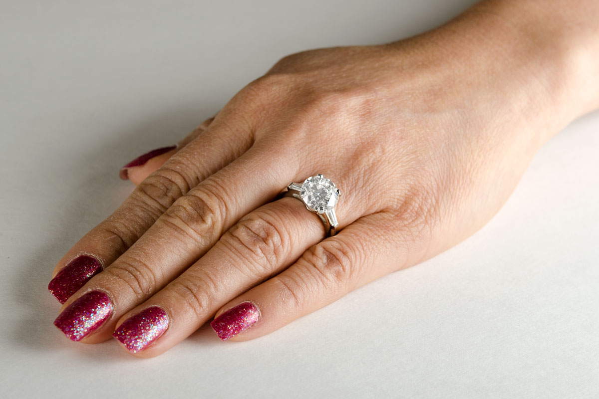 Elegant Ring On Finger
