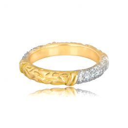 Front View of Tifferet Wedding Band
