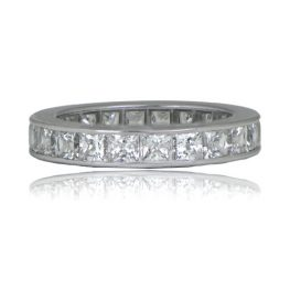 French Cut Diamond Wedding Band