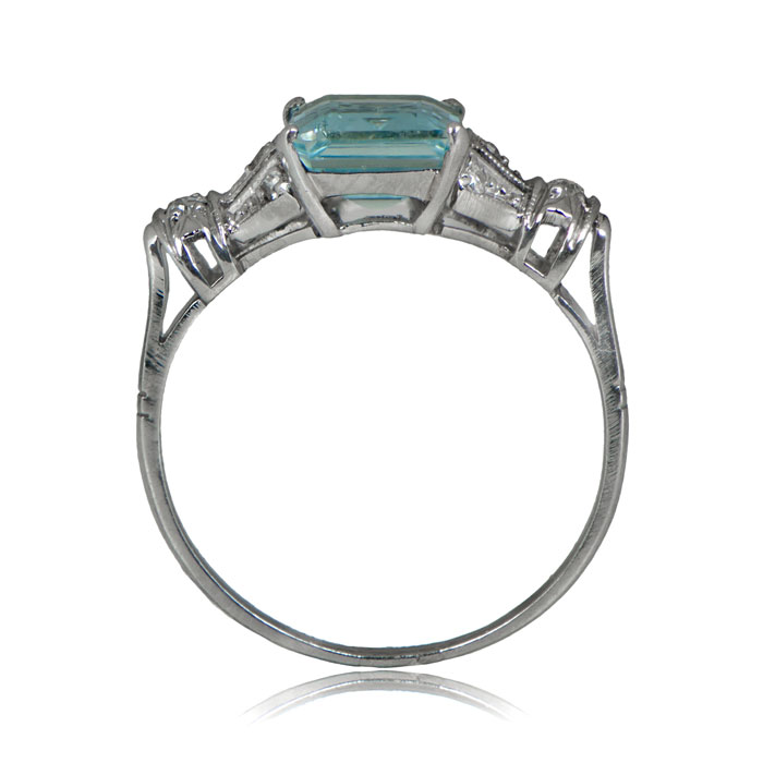 vintage aquamarine ring estate jewelry