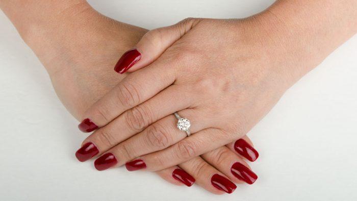 11520-Crown-Platinum-Engagement-Ring-on-Finger