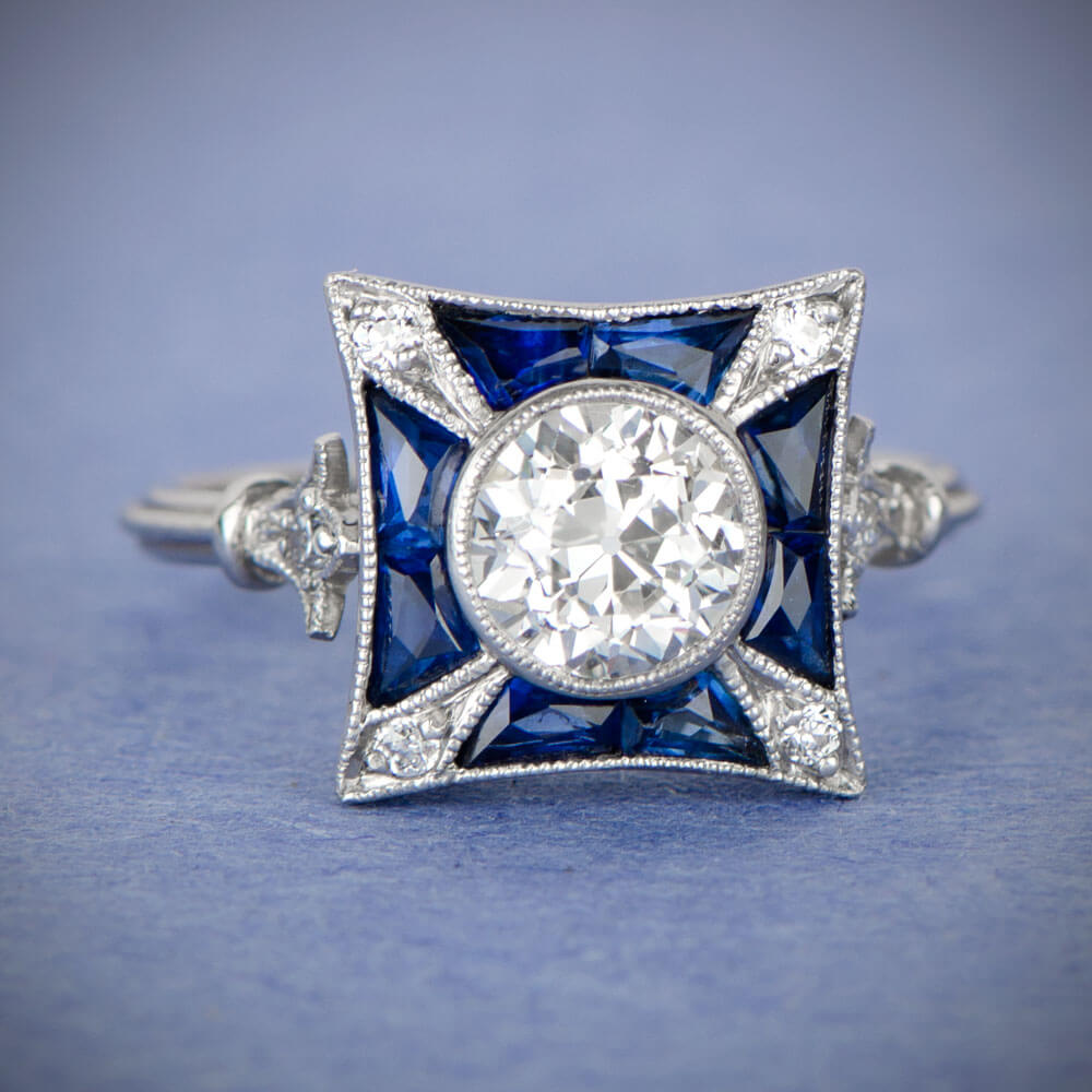 Antique Sapphire Rings Estate And Vintage Sapphire Rings