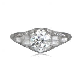 Antique Coucy Engagement Ring Front View