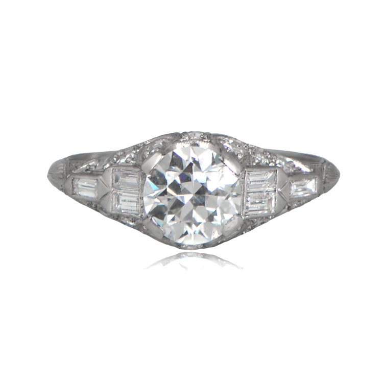 1 15ct coucy engagement ring estate jewelry