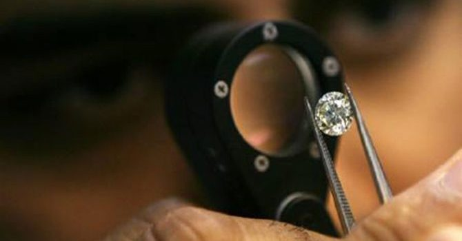 Examining a Diamond for Kimberely
