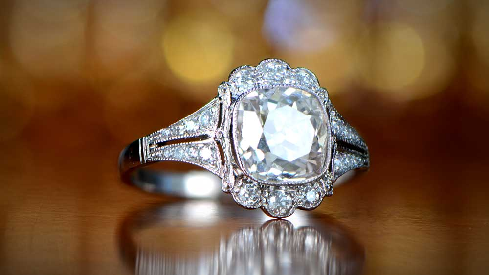 A Large Diamond Engagement Ring