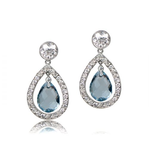 Florence Aquamarine Earrings