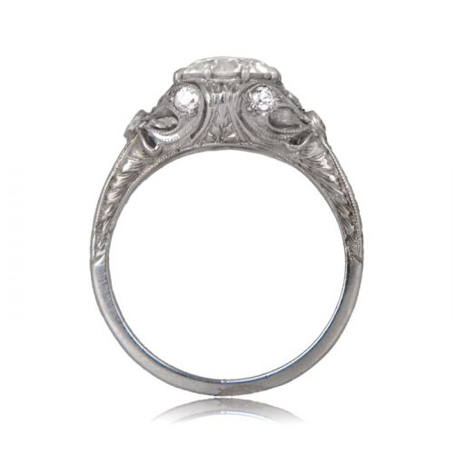 Auckland Edwardian Engagement Ring Side View