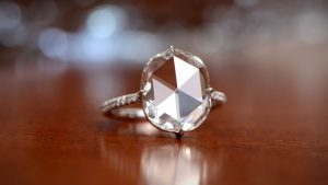 Artistic Picture of Rose Cut Diamond Engagement Ring