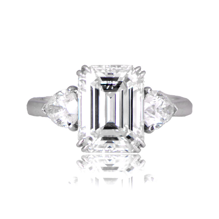 Clifton Ring - Emerald Cut Diamond Ring