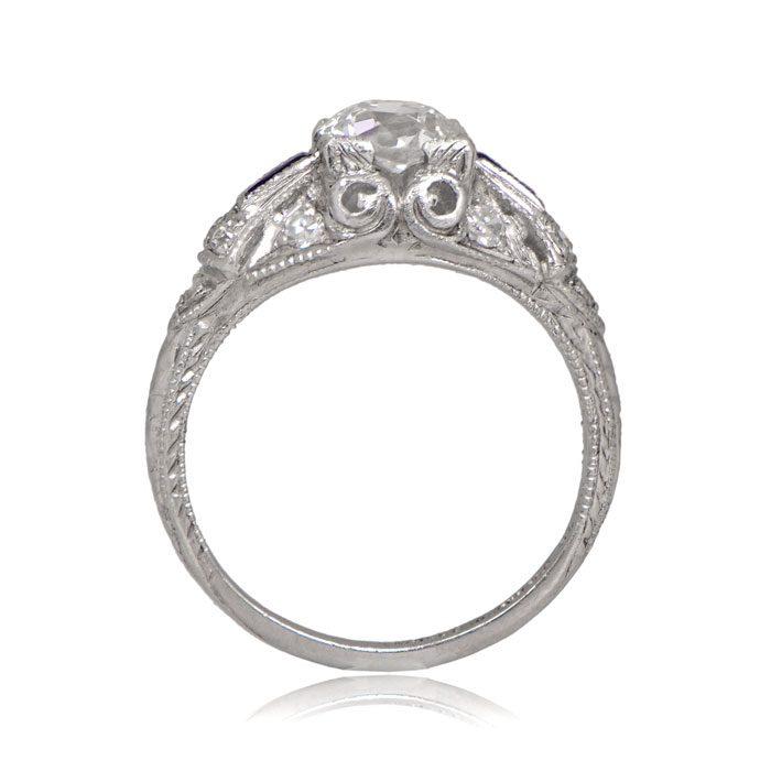 R155-Antique-Diamond-Sapphire-Ring-SV