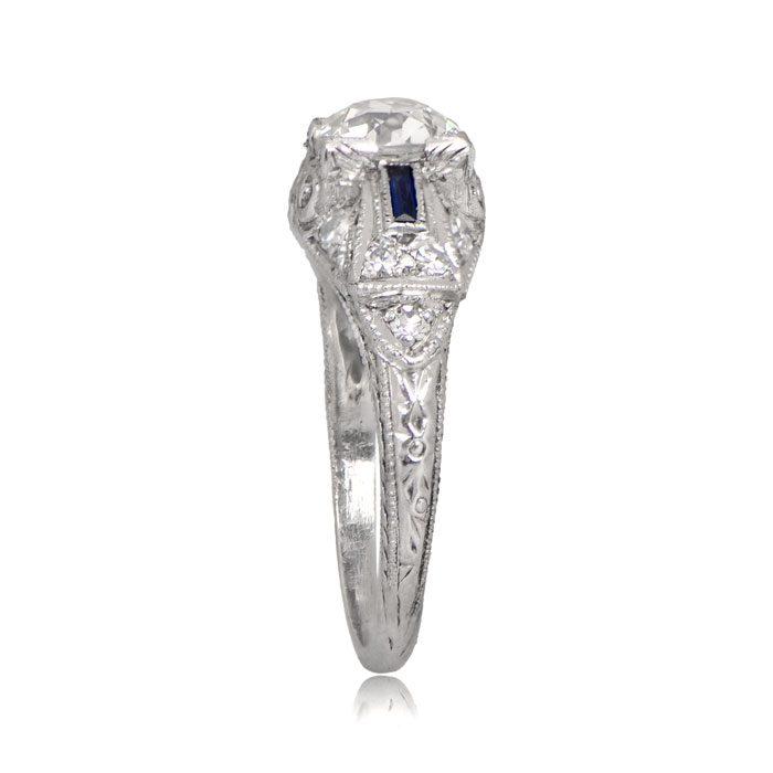 R155-Antique-Diamond-Sapphire-Ring-TSV