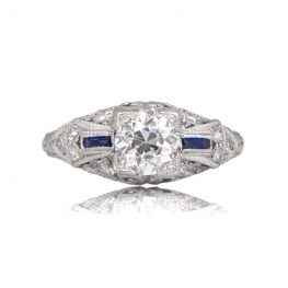 R155-Antique-Diamond-Sapphire-Ring-TV
