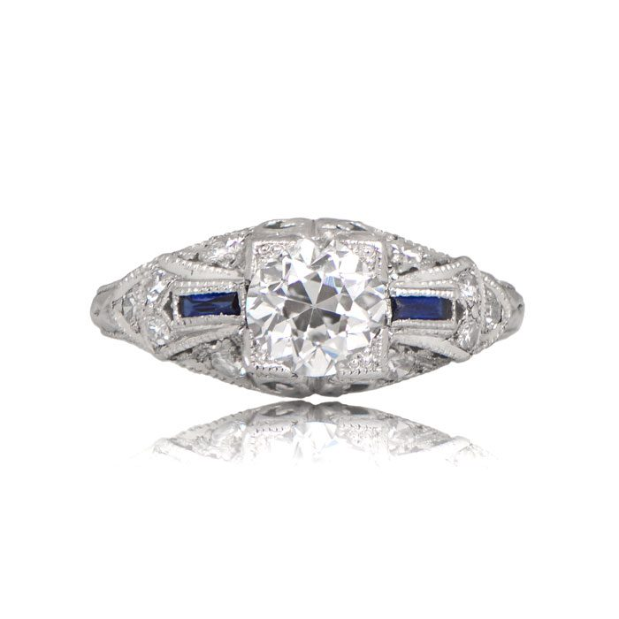 R155-Antique-Diamond-Sapphire-Ring-TV