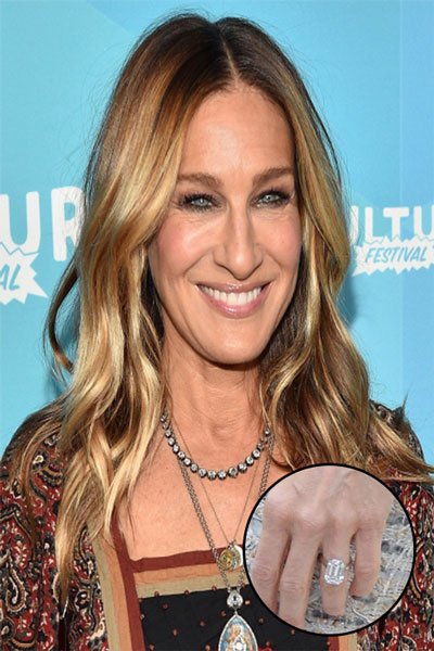 Celebrity engagement rings estate diamond jewelry for Sarah jessica parker wedding ring