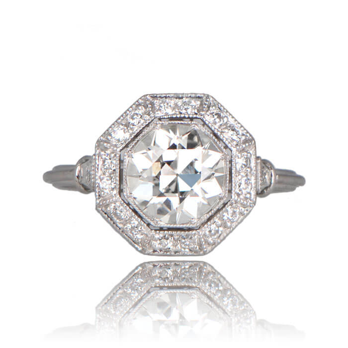 Revel Platinum Ring Octagon Shaped