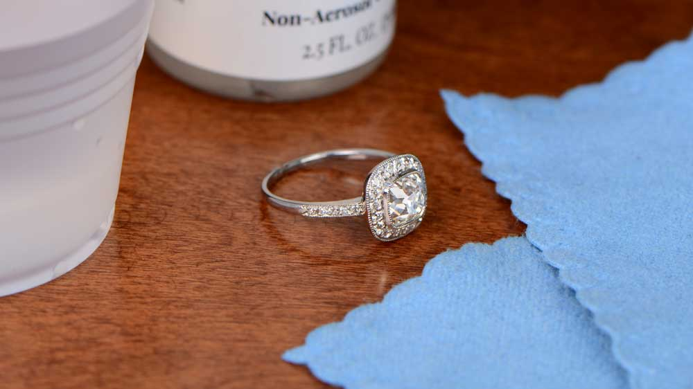 How To Clean Your Engagement Ring - Estate Diamond Jewelry