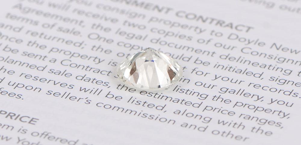 Real Diamond on Newspaper
