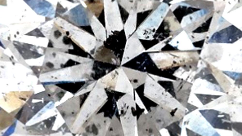 Diamond Inclusions in Brilliant Cut Diamond