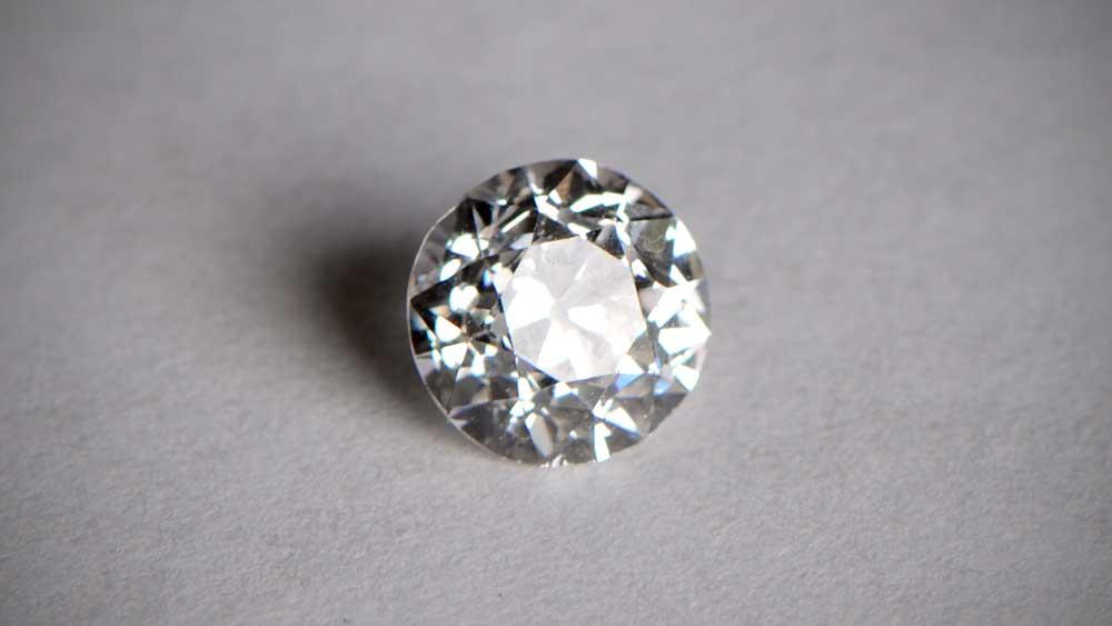 Old European Cut Diamond on paper