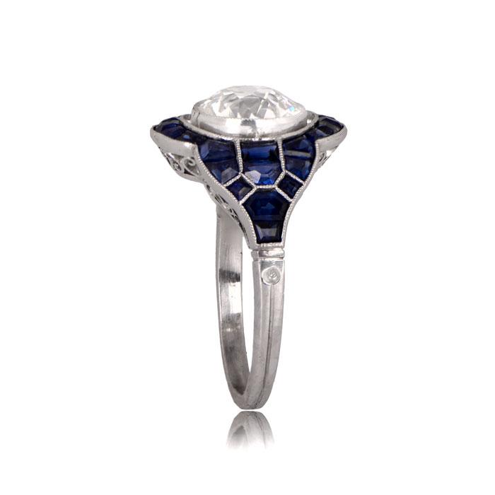 Evora Ring Top Side View Diamond Ring