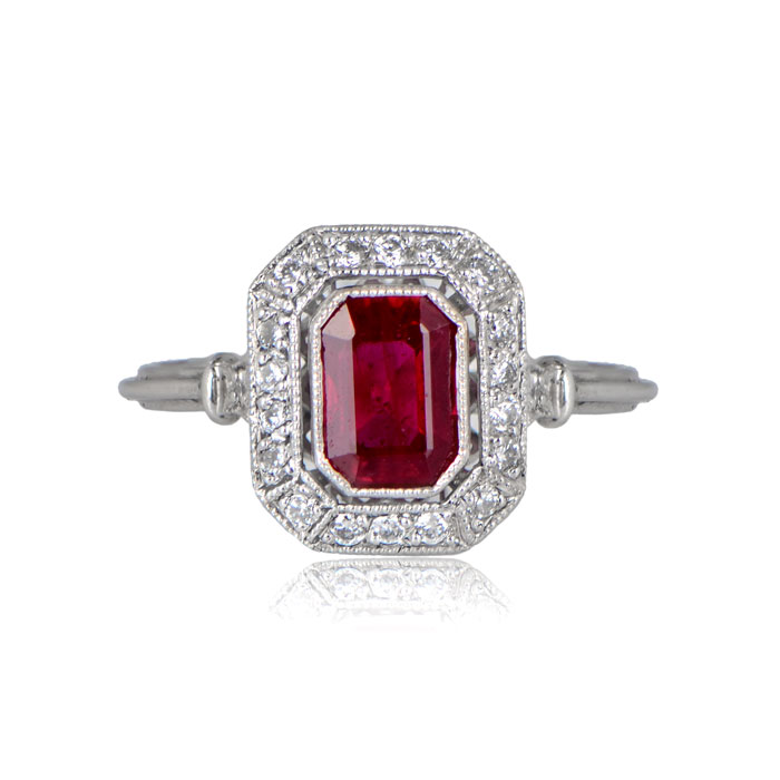 Front View of Sicily Engagement Ring