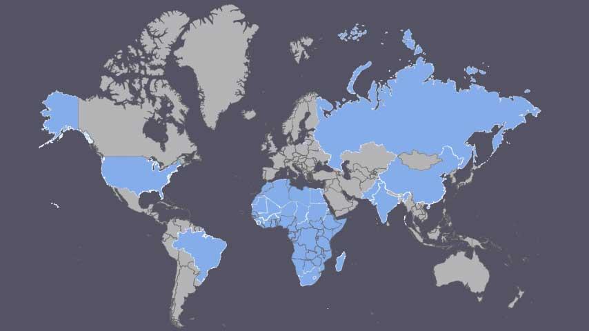 Map Locations of Aquamarine Deposits