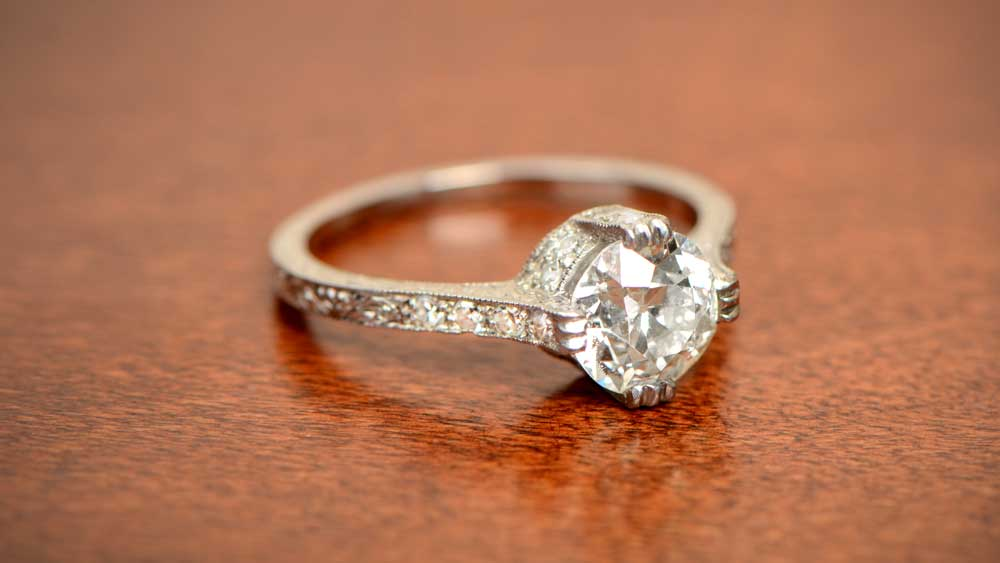 Partial Wide Prong Engagement Ring