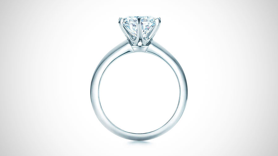 Tiffany Solitaire Engagement Ring Side Profile View