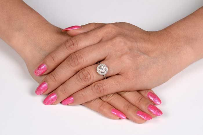 Linda Ring on a Finger
