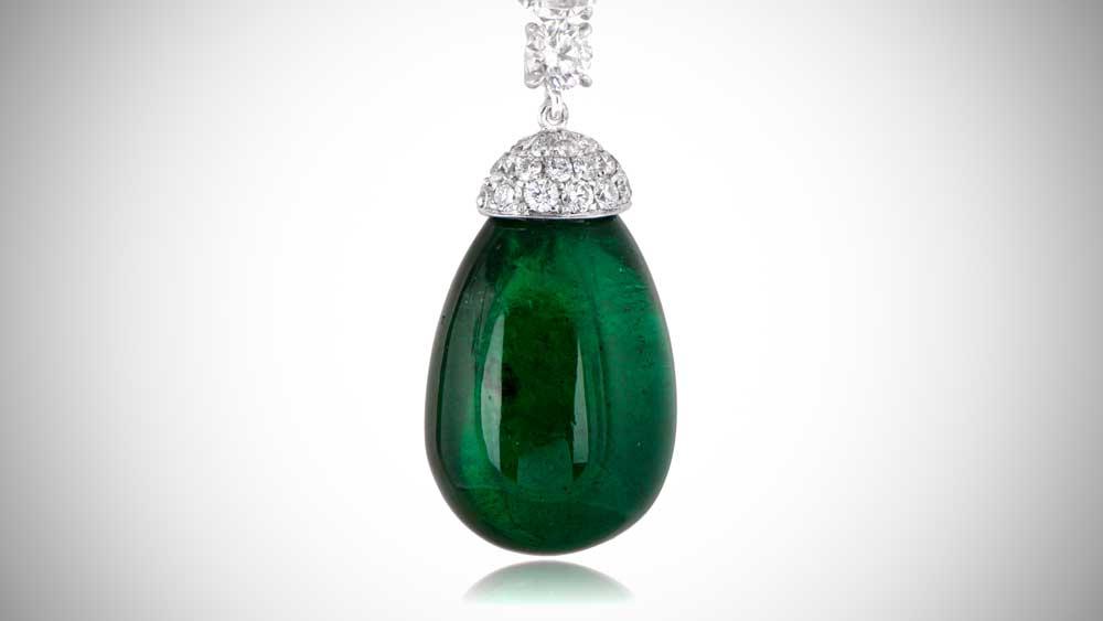 Harry Winston Emerald Drop Earrings