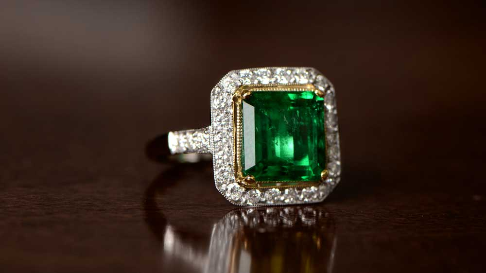 Rare Emerald Engagement Ring