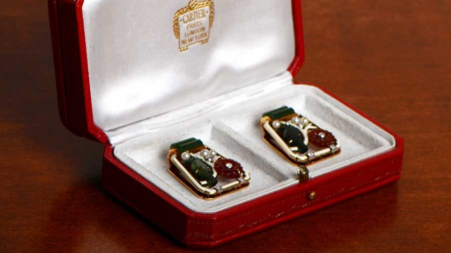 Antique Cartier Clips in Box