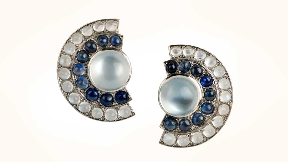 Vintage Moonstone Earrings