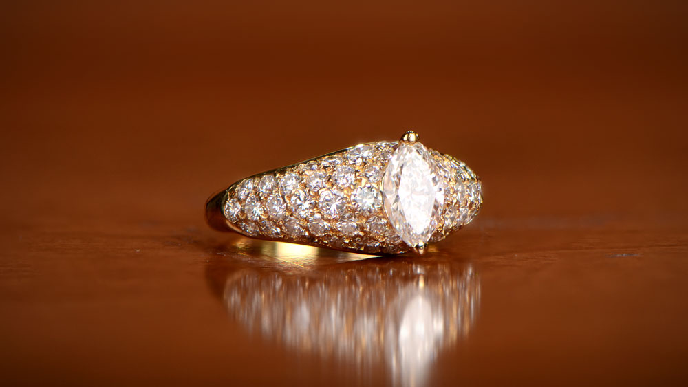 Cartier H Color Diamond Ring