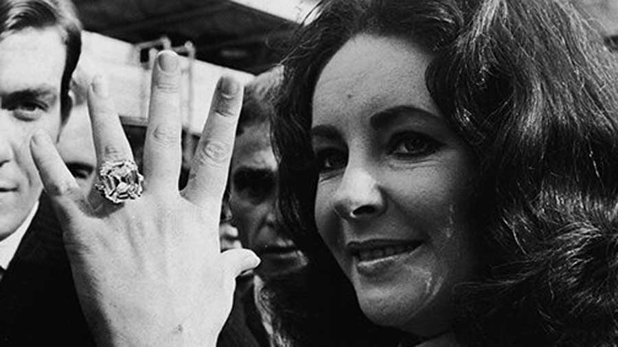 Elizabeth Taylor Asscher Cut Diamond Ring