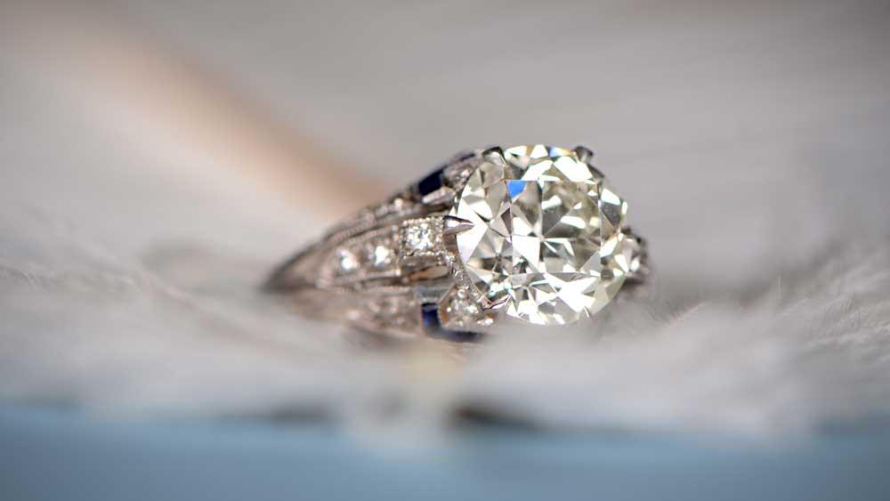 L Color Diamond Engagement Ring