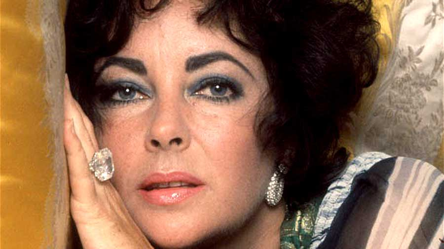 Liz Taylor wearing Solitaire Ring